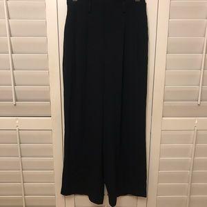Wide leg work pants